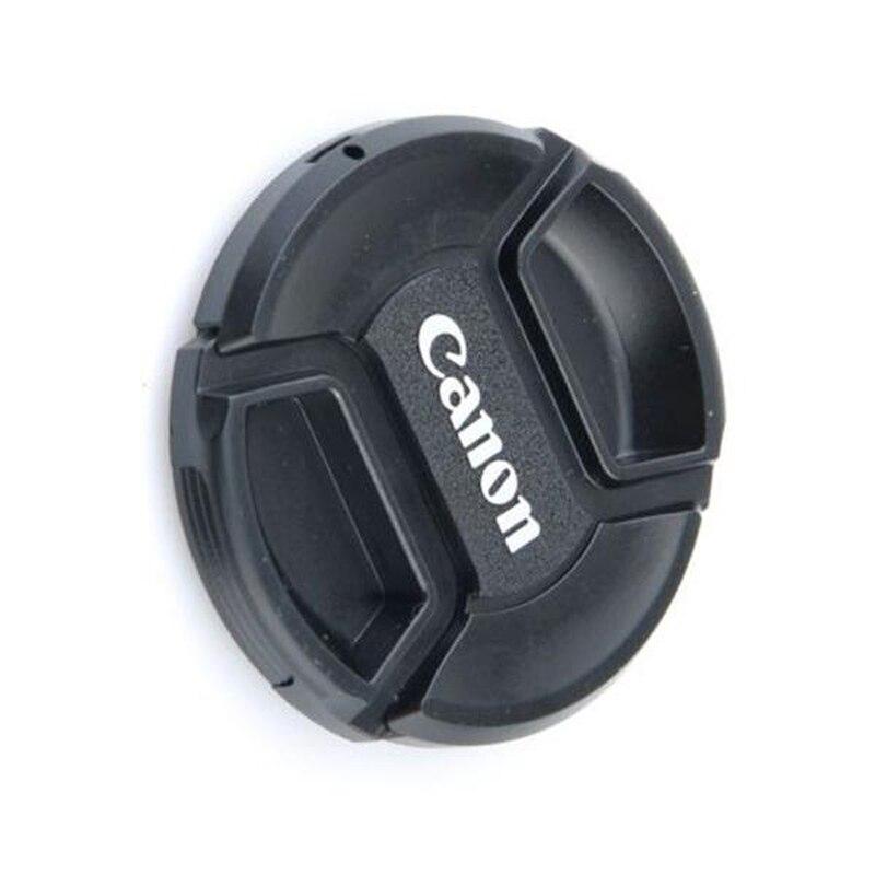 1 Pc en el frente 58mm len tapa correas para canon eos EF 18 55 250 negro Centro de tapa para canon_nikon lente nikon_Tapas de lente_ - AliExpress