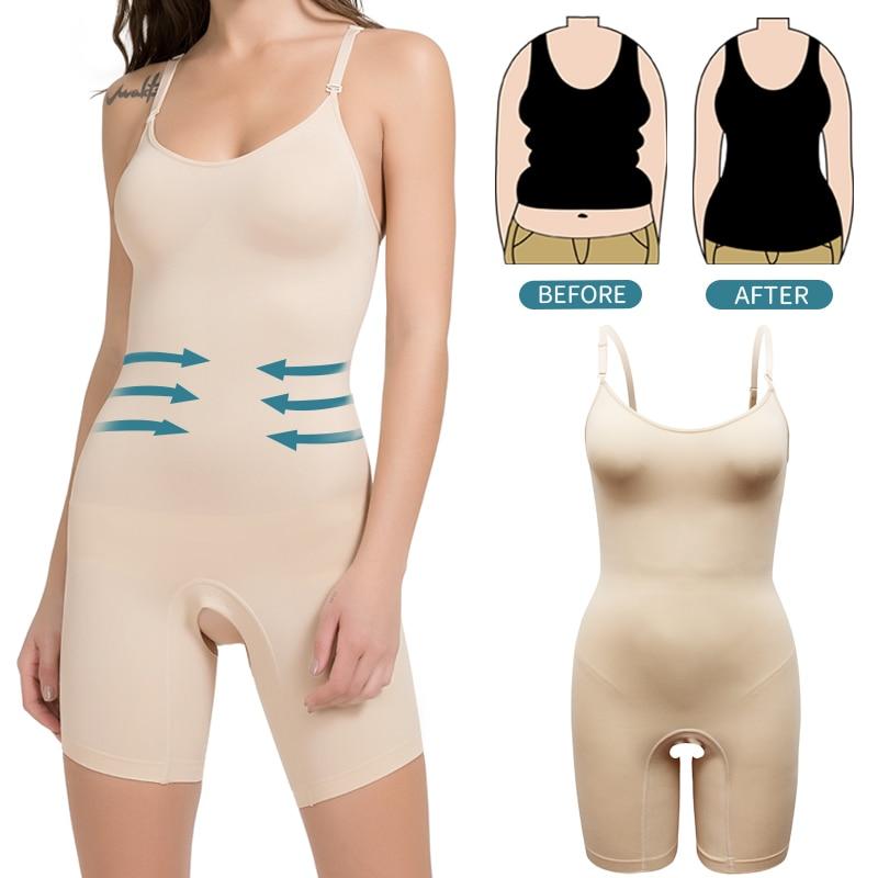 Bodysuit Shapewear Full Body Shaper Waist Trainer Women Abdomen Shapers Slimming Sheath Seamless Corset Slim Tops Thign Slimmer