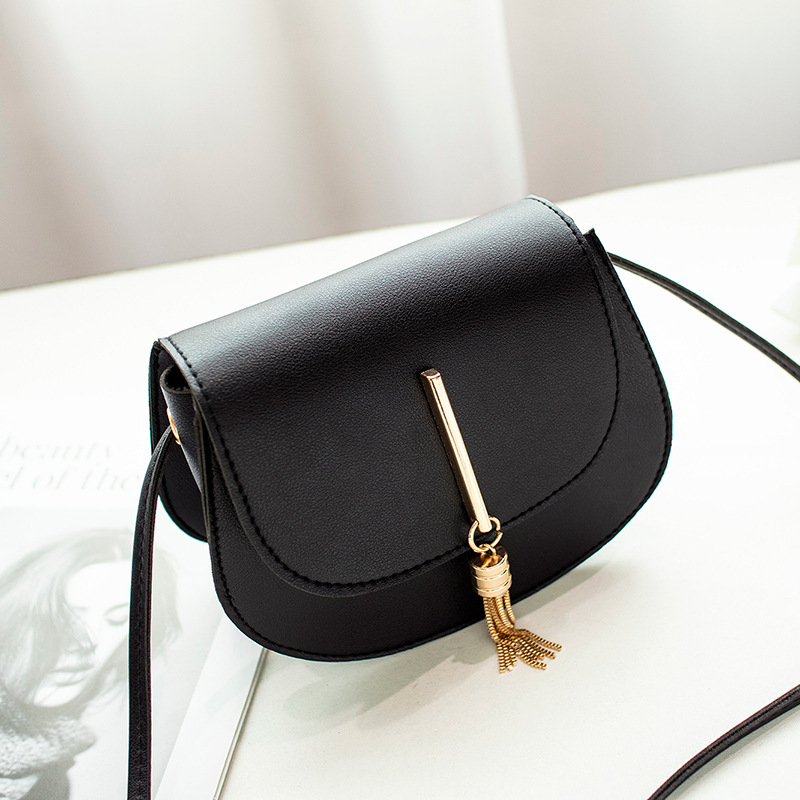 Fashion Tassel Women Crossbody Bag PU Leather Small Flap Messenger Bag for Ladies Sling Bag Mobile Phone Wallet Handbags Bolsa