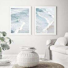Плакаты с пляжным прибрежным ландшафтом большая Настенная картина
