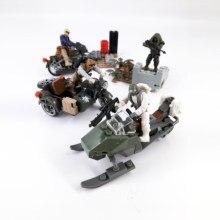 Militar ABS Articulações Móveis Brinquedos Educativos Montagem Blocos de Construção Figuras Com Armas kit Modelo de Mini Blocos Brinquedos Para Meninos