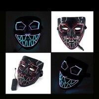 Luminous Mask Halloween Party Masque Masquerade Masks Neon Maske Light Glow In The Dark Cosplay Props Decor Supplies