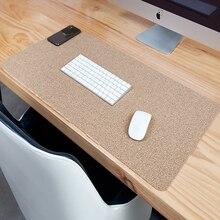 Cork mouse pad Large Cork Desk pad Gaming Mousepad Anti-slip Natural Oak Waterproof Desk Mat Keyboard Pad For PC Laptop Office