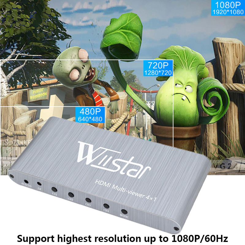 Image 5 - 4X1 HDMI Multi viewer HDMI Quad Screen Real Time Multiviewer with HDMI seamless Switcher 1080p HD IR HDMI Switch