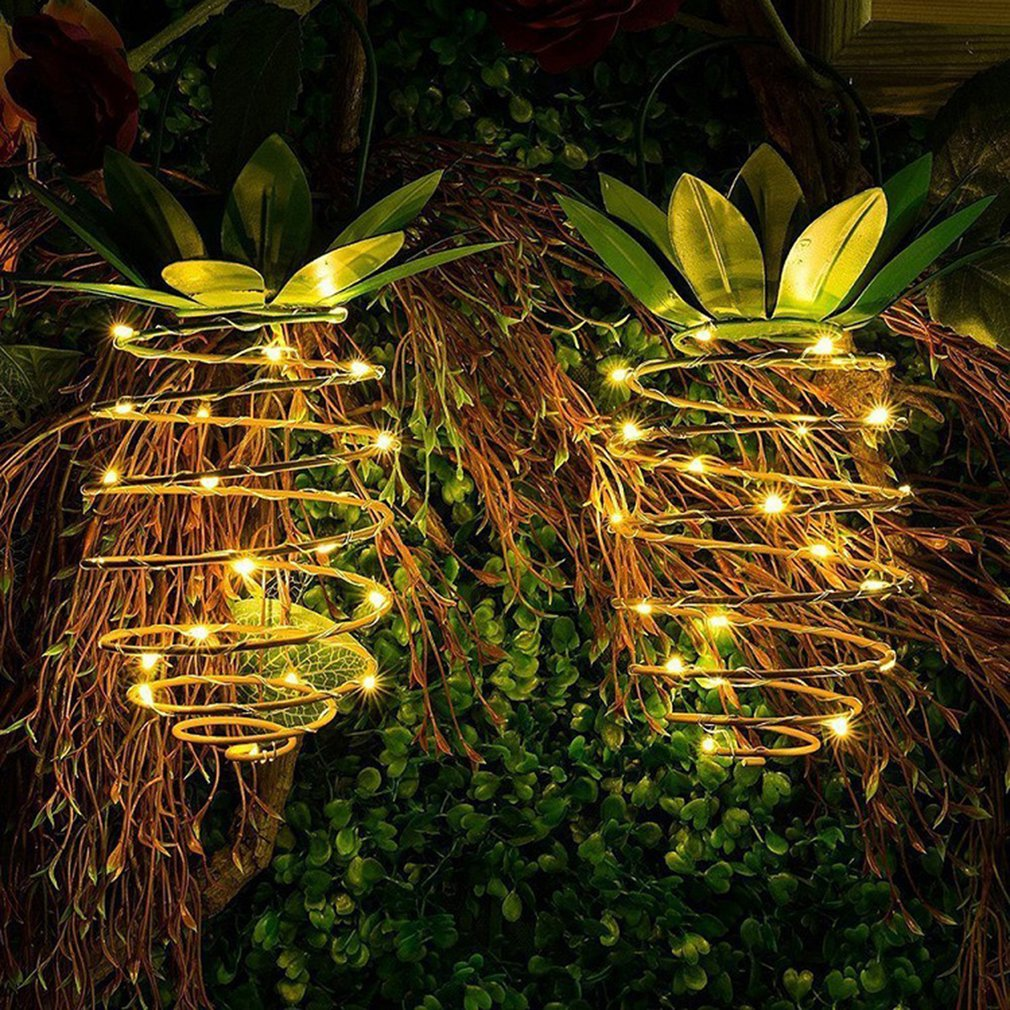 LED Solar Hoop Light Fruit Shape Garden Waterproof Decorative Copper Wire Light Portable Night Light