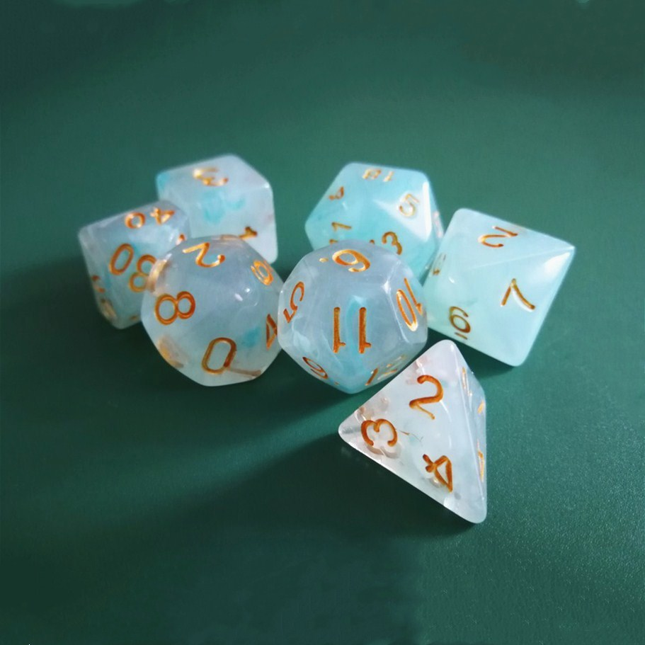 7pcs/set 17 Colors Multifaceted Dice D&d D4 D6 D8 D10 D% D12 D20 Polyhedral TRPG Games Dice Set Board Game Entertainment Dice