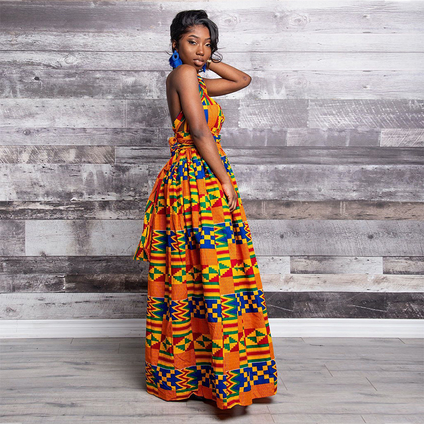 Fashion Elastic Maxi Dress 2019 News Long Robe African Dresses for Women Bazin Riche Clothes Vestidos Dashiki Party Vacation