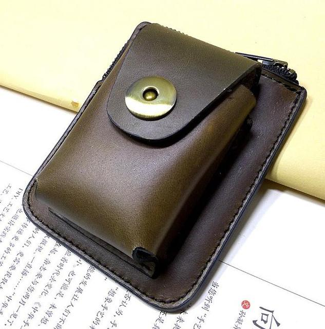 YUEXING Handmade 1st Layer Leather Folding Glasses Case Leather ...