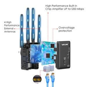 Image 5 - Amplificador de WiFi sem fio Wavlink, reforço de sinal de faixa dupla 2,4G + 5Ghz, extensor e repetidor 1200Mbps