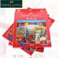 Faber-castell clássico cavaleiro série óleo cor lápis 12/24/36/48/60 papel/caixa de lata artista profissional pintura arte fornecimento