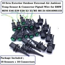 65816905133 zewnętrzny zewnętrzny czujnik temperatury otoczenia powietrza i złącze Pigtail drutu dla BMW MINI E46 E39 E38 X3 X5 M5 M6 Z4
