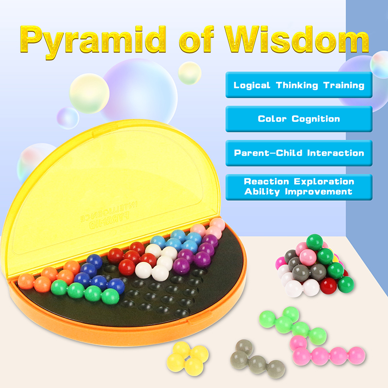 3D Puzzle IQ Pearl Logical Mind Game 178 Challenges Pyramid Plate Toy Beads Intellectual Development Educational Game Kids Toys
