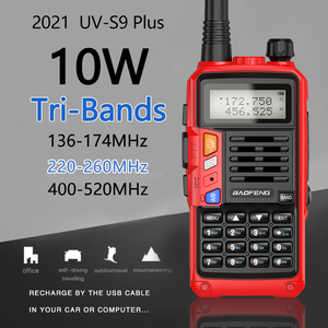 Image 2 - Baofeng UV S9 Plus Tri Band10W Krachtige 2Xantenna Vhf Uhf 136 174Mhz/220 260Mhz/400 520Mhz 10Km Long Range Ham Draagbare Rad