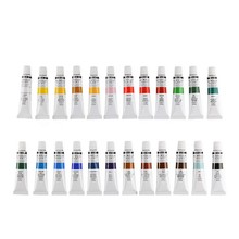 24 Color Acrylic Paint Set Waterproof Professional Wall Oil Painting Fashion Canvas Pigment Art Supplies