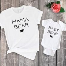цена Mama Bear Shirt Little Bear Family Set Mama Big Sister Little Sister Family Clothing Baby Girl Clothes 2020 Fashion Print онлайн в 2017 году
