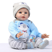 Adorable Reborn Baby Doll Reborn Lifelike Full Body Silicone 47CM Babies Doll Handmade Toddler Dolls With Hands Open Toys