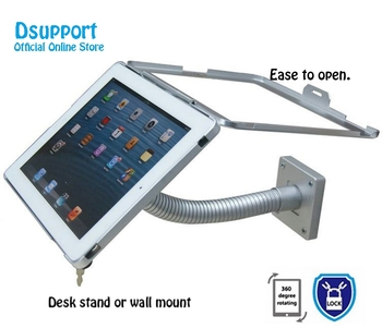 Fit for iPad 2/3/4/5/air/pro wall mount deskstand case for ipad stand bracket tablet pc lock holder support full motion angle