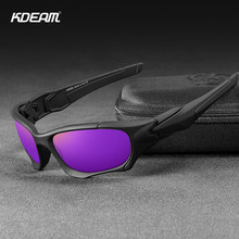 KDEAM 브랜드 강한 팔 남자 선글라스 편광 된 운전 방패 태양 안경 남자와 여자 스포츠 고글 oculos de sol