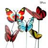 Itimo 5 Pcs/Mazzo Farfalla Variopinta Palo Vasi da Fiori Farfalla con Pile per La Casa per Il Giardino Decorazione Del Giardino Esterno|Girandole e bastoncini decorativi|Casa e giardino -