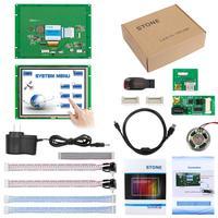 8-дюймовый встроенный/открытая рамка TFT LCD сенсорный монитор 800x600 камень HMI STI080WT-01