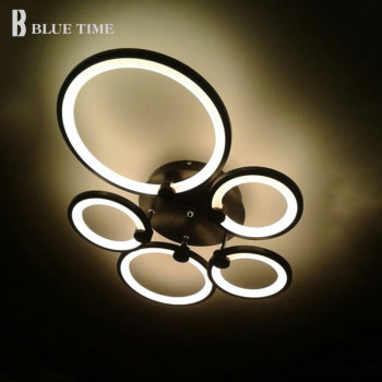 Luminaires Modern Led Ceiling Light White&Black Rings Led Chandelier Ceiling Lamp For Foyer Living Room Dining room Bedroom Lamp black white square round led ceiling lamp living room dining room bedroom hall kitchen decoration modern dimming ceiling lamp