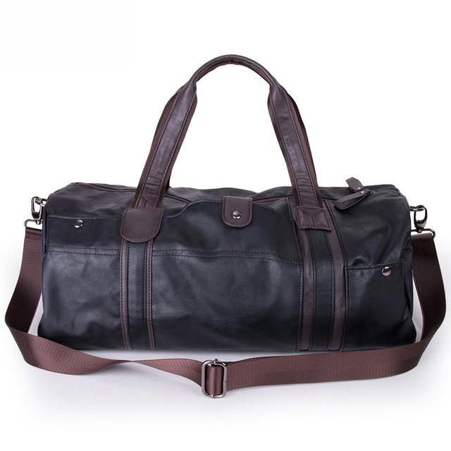 MAGIC UNION Weekender Oil Wax Leather Handbags for Men Travel Duffel Bag Portable Shoulder Bags Men's Fashion Carry On Bag 2