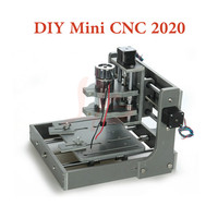 Mini DIY 2020 CNC Router machine 3 4 axis working size 200x200mm frame Engraving Milling Machine with spindle motor