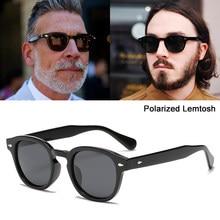 Jackjad moda legal johnny depp lemtosh estilo polarizado óculos de sol vintage redondo anti azul óculos de design da marca quadros