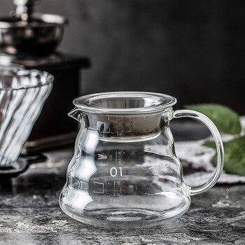 Pour Over Coffee Pot Glass Gooseneck Kettle Dripper with Range Coffee Server Hario V60 Espresso Coffe Maker Barista Percolator 1