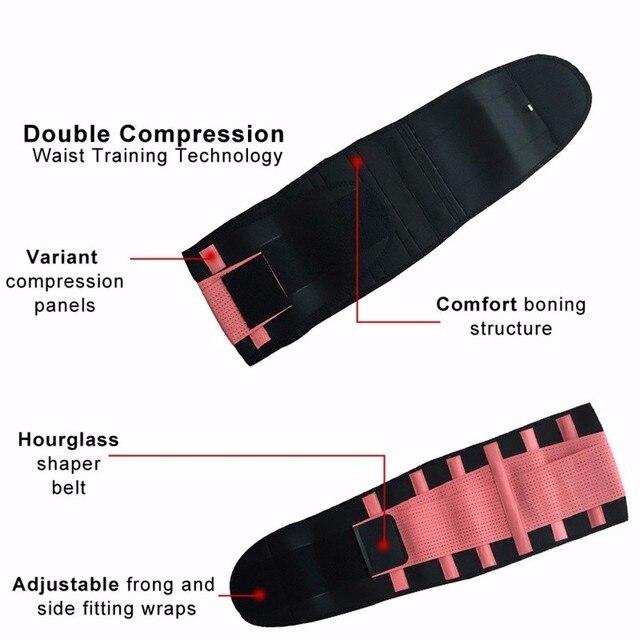 Waist Support Neoprene Waist Trimmer Exercise Belt Slimming Lumbar Protector Belts Sweat Loss Weight Belly Girdle For Men/Women 2
