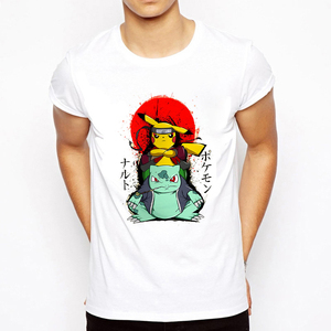 Harajuku Streetwear Japanese style Graphics Clothes T Shirt Men Gift 2020 Japan Samurai Warrior Naruto Nine Tailed Print T Shirt