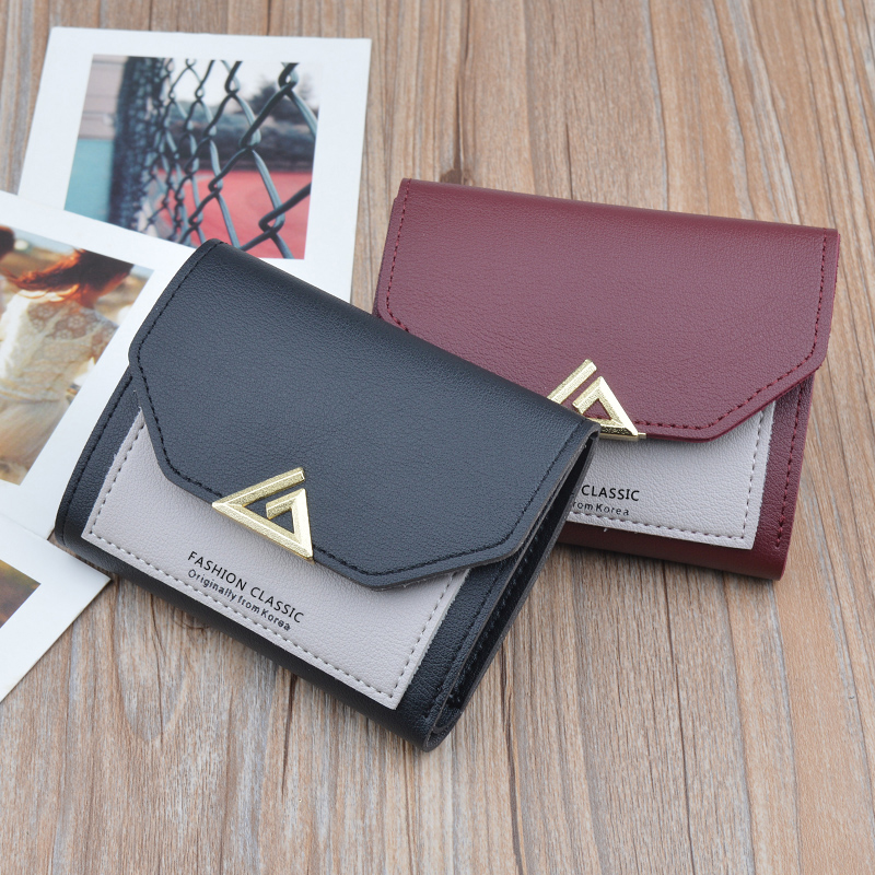 New Fashion Women Small Wallet Short Japanese and Korean Cute Small Fresh Coin Purse Mini Student Ms. Wallet Wallet