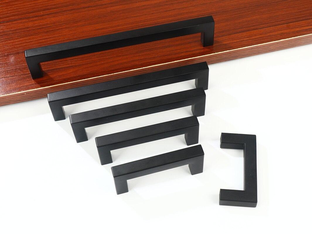На Возраст 3-15 дюймов черный Нержавеющаясталь квадратный гардероб шкаф с выдвижными ящиками Тянет Ванная комната кабинет ручки двери мебе...