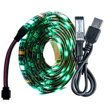 USB LED Strip 5050 RGB Changeable TV Background Lighting 50CM 1M 2M 3M DIY Flexible LEDTape Backlight Bluetooth Controller DC 5V(China)
