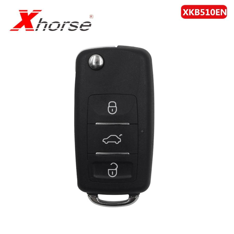 Xhorse XKB510EN Universal Remote Key B5 Type 3 Buttons For VVDI VVDI2 Key Tool 1 Piece