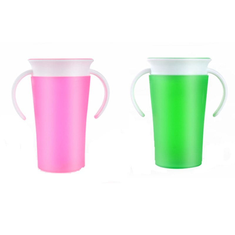 Children Students Training 360 Degree Drink Prevent Leaking Cup Reusable  Plastic Cup