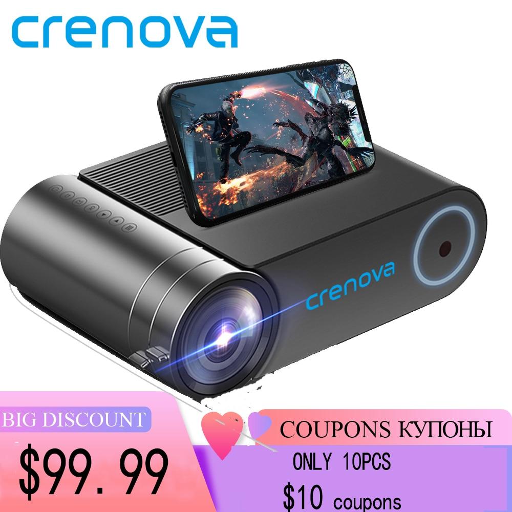 CRENOVA Mini projector LED Full HD 1280×720 for 1080p Wireless Sync 2800 lumens Home Theater Video beamer