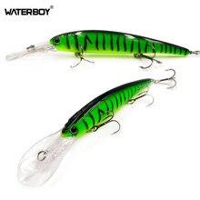 Waterboy longo lábio minnow isca de pesca 12cm 20g profunda wobbler natação artificial peixe duro isca