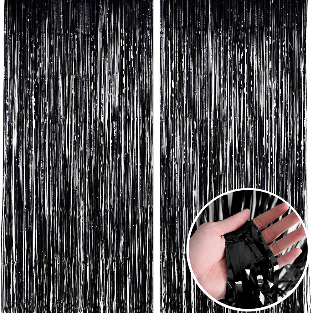 Birthday Party Wedding Decoration Backdrop Curtains Glitter Glossy Fringe Tinsel Foil Curtain Baby Shower Anniversary Wholesale