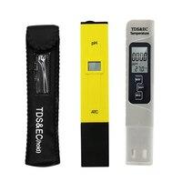 3 teile/satz Digital LCD PH Meter TDS EC Wasser Qualität Tester Meter Stift LCD Monitor Aquarium Pool Meter Boden Test|PH-Meter|Werkzeug -