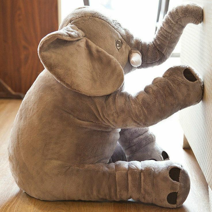 Newborn Baby Boy Girl Toy Long Nose Cute Elephant Animal Doll Toddler Pillow Soft Plush Stuff Toys Lumbar Pillow gift Present