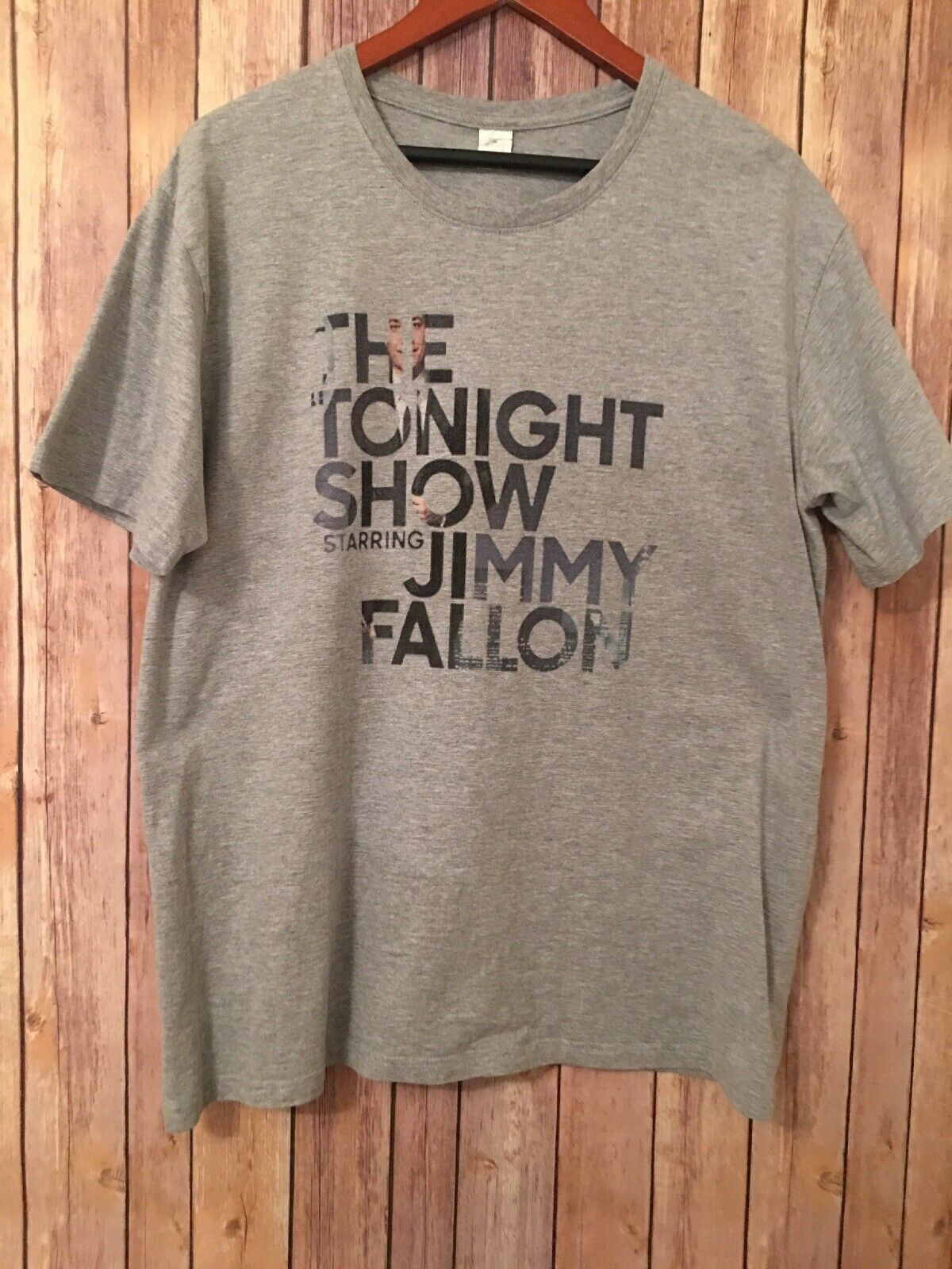 <font><b>The</b></font> <font><b>Tonight</b></font> <font><b>Show</b></font> Starring Jimmy Fallon T Shirt Size Xl image