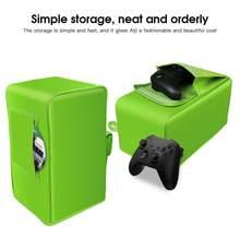 Para xbox x series console protetor de poeira à prova dwaterproof água com alça armazenamento anti risco macio host capa dustproof manga protetor