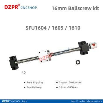 16mm Ball screw CNC parts SFU1604  SFU1605 SFU1610 150mm 200mm 300mm 400mm 450mm 500mm 550mm 1200mm with BK12 BF12 Coupling