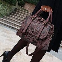 Винтажные женские сумки с тиснением женская сумка на плечо большой