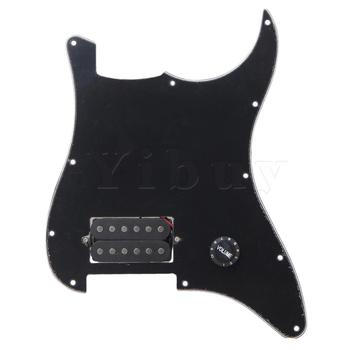 Yibuy Black Prewired Pickguard 1 Humbucker For Electric Guitar yibuy dual rail dual coill magnetic pickup humbucker for electric guitar black