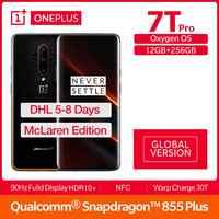 Version mondiale OnePlus 7T Pro Mclaren édition Snapdragon 855 + 6.67 'écran amoled 90Hz taux de rafraîchissement 48MP Triple Cam 4085mA NFC