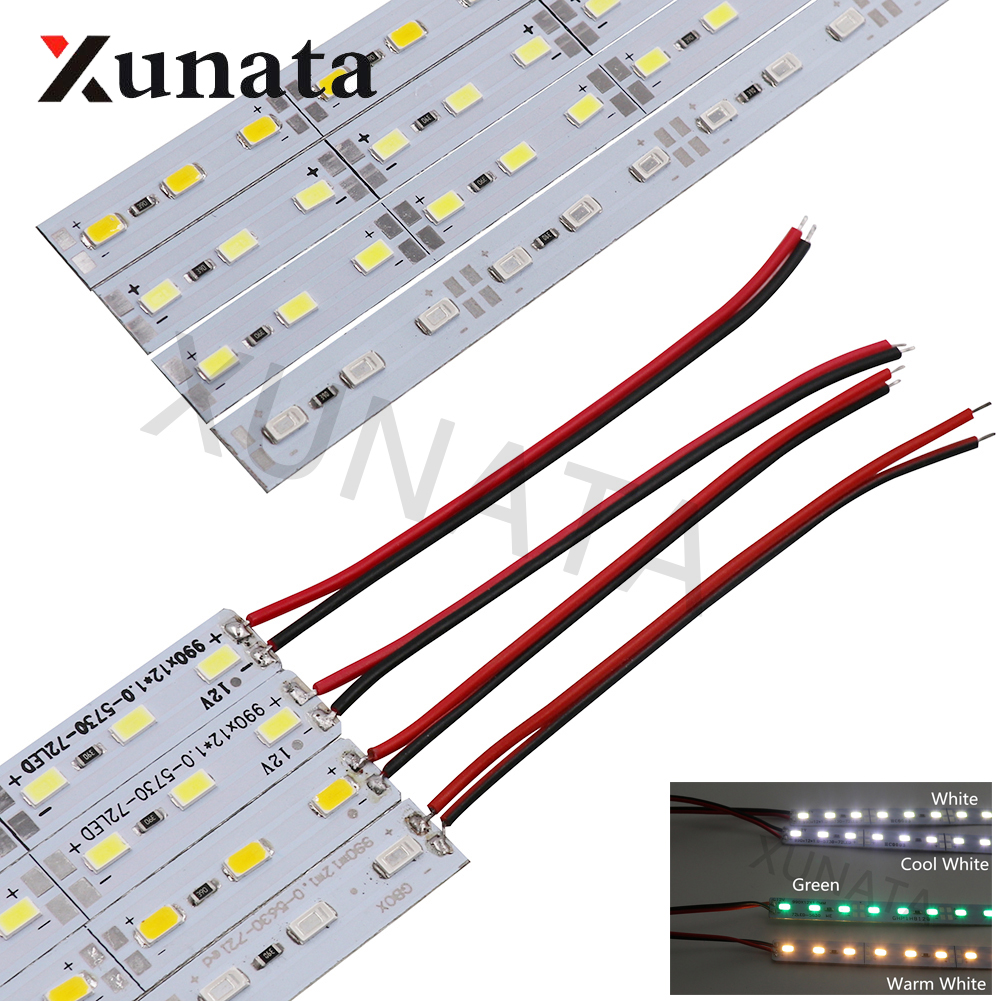 5pcs/10pcs/20pcs 50cm Led Strip Light DC12V 24V LED Bar Lights Cold White/Warm White 5630 5730 LED Hard Strip