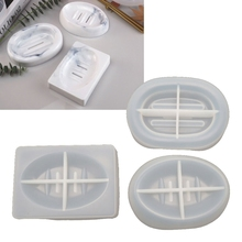 1 Pc Handmade Soap Box Silicone Mold Soap Dish Tray Resin Casting Mold Epoxy Resin Ring Dish Holders Resin Soap Tray Molds