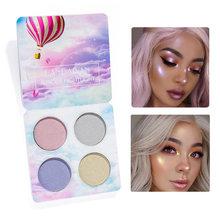 New 4 Color Eye Shadow Waterproof Smudge-proof Colorfast High-gloss Eye Shadow Plate Eyeshadow Palette Beauty Makeup Cosmetic
